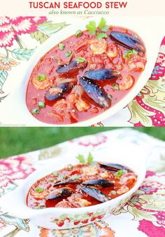 Cacciucco Seafood Stew via @sheenatatum