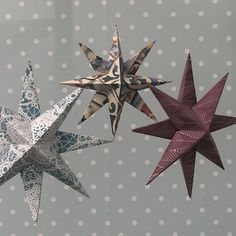 it instantly even with wallpapering! Handmade Christmas, Christmas Diy, Christmas Decorations, Xmas, Christmas Ornaments, Holiday Decor, Christmas Stars, Christmas Things, Fall Decor