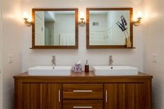 Double Bath Vanity and Sconces   Bath Vanities and Cabinets