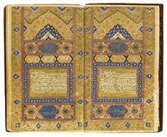 "Surat 1 Fatiha (The Opening) at right, and Surat 2 Baqara (The Cow) at left. As Fatiha sums up in seven beautiful verses (liked to David's 23rd Psalm of the Christian OT) the essence of the Qur'an, so Baqara sums up in 286, the whole teaching of the Qur'an. Click on links to see this larger than its small size (12x19cm /5x7"") to see the details that must have been painted with a single-haired brush: Persia, Zand, with by 'Ali Ashraf, dated 1157 AH/1744 AD. (A Shabbas)"