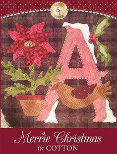 Merrie Christmas Kit - Cotton - Pre-fused/Laser-Cut