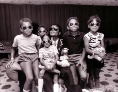 Michael Jackson with family including Taryll Jackson, Taj Jackson, and TJ Jackson - Circa 80's.