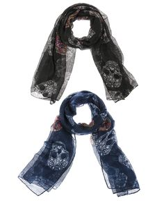 Sugar Skull Scarf Day of the Dead| Fall Fashion| Day of the Dead Scarf| Sugar Skull Clothing