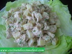 Recetas de cocina faciles - Ensalada fría de Pollo,Papa y Aguacate