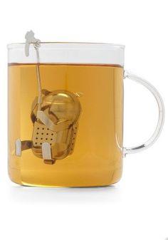 Kikkerland Eco-Friendly Belayed Reaction Tea Infuser from ModCloth. Saved to Apartment wishlist. Pause Café, Vintage Kitchen, Retro Vintage, Cafetiere, Tea Strainer, Loose Leaf Tea, Tea Accessories, Cool Gadgets, Kitchen Gadgets