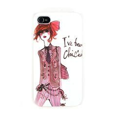 Chiced iPhone Case white, pink, tech & gadgets