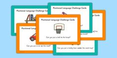 * NEW * EYFS Positional Language Challenge Cards