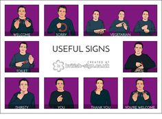 "coille-dithean: "" More hearing people should learn some sign language so here are some actually useful signs for us hearing people to learn. """