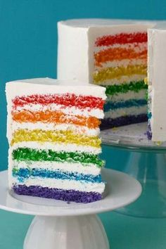 Someone have a birthday, I want to make a giant rainbow cake!