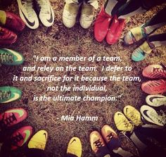 My soccer team aren't just my friends, they are my family! #miahamm #soccerquotes #soccer