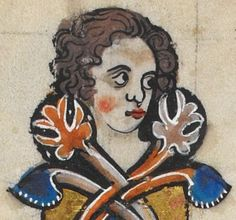 """Detail from """"The Rutland Psalter"""", medieval (c1260), British Library Add MS 62925. f 18v"""