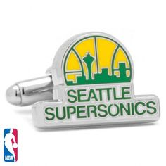Winner of the 1979 NBA Championship, 6 time divisional title winner and spot of many memories. A necessary accessory for any Sonics fan, let the memories of Shawn Kemp, the Glove and many more live on with the officially licensed Seattle Supersonics Cufflinks. Available at www.CUFFZ.com.au