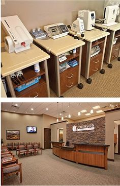 Simple beverage center reception pinterest beverage for Ideal office layout