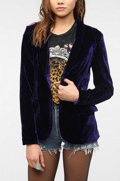 Toi Et Moi Velvet Blazer #UrbanOutfitters More