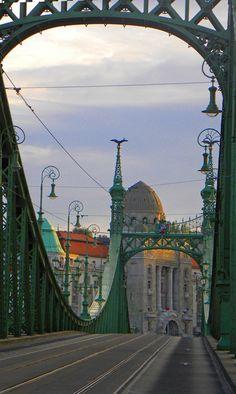 Liberty bridge, Budapest: http://bbqboy.net/favorite-photos-2-months-budapest-see-skip/ #budapest #hungary