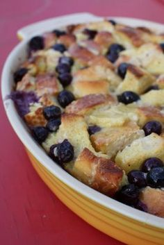 blueberry french toast bake. Made this for Christmas Eve and it was awesome!