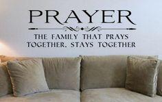 Prayer A Family Who Prays Together Stays by designstudiosigns, $32.50