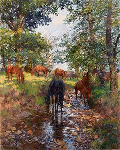 THEODOR+ROCHOLL+-+Cavalos+no+Parque+Sababurg+-+Óleo+sobre+tela+-+199+x+133+-+1913.JPG (963×1200)
