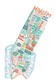 NYC map - New York city map - Benoit Cesari