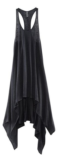 H Divided Grey - assymetrical hem tank dress