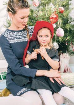 Knitted marius dress for women, nordic/scandinavian pattern Knit Cardigan, Knit Dress, Knit Crochet, Crochet Hats, Scandinavian Pattern, Christmas Carol, Xmas, Baby Knitting Patterns, Yarn Crafts