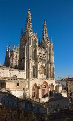 Burgos Cathedral, Castille and Leon, Spain Cathedral Architecture, Sacred Architecture, Architecture Details, Cathedral Basilica, Cathedral Church, Houses Of The Holy, Sainte Marie, Church Building, Spain And Portugal