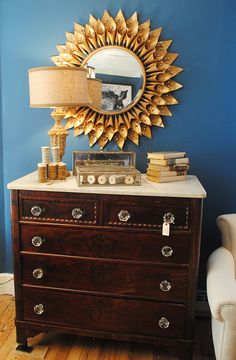 Fall Decor Design House. Love the dresser, especially the knobs!