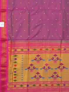 Paithani Saree double pallu design