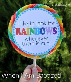 LDS baptism rainbow printable for a Great to be Eight activity or a fun little baptism gift. These would also be super cute in a centerpiece for a baptism party.
