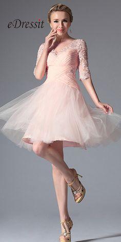 eDressit Pink Stylish Design Cocktail Party Dress