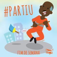 #Partiu #FimdeSemana #DiadoGari #Parabens #RenatoSorriso #bampdm #ilustração