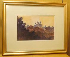 Alexis Lavine: Morning in Delhi   Size: 20″ x 16″  Medium: Watercolor  Price: $400