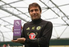 Hazard and Conte win Premier League player and boss of month awards #dailymail