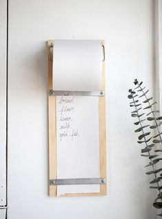 Need a convenient place in your kitchen to keep a list? Whether it's for a…