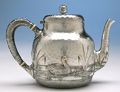 Dominick & Haff Japanesque style sterling teapot, c1881 (spencermarks)
