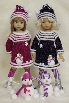Knitted Dolls, Crochet Toys, Knit Crochet, Baby Barbie, Barbie Dolls, Gotz Dolls, Little Darlings, Handmade Clothes, Barbie Clothes