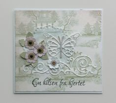 Card flowers and leaves punched homemade Butterflies Memorybox pippi butterfly die MFT formal flourish Die-namics #mftstamps Tilda The Seaside Life paper pad collection #tilda - JKE