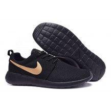 Nike Roshe Run Black Gold Womens Mens