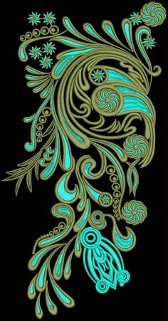Latest Embroidery Designs For Sale, If U Want Embroidery Designs Plz Contact… Embroidery Works, Lace Embroidery, Machine Embroidery, Paisley Stencil, Arabian Decor, Embroidery Designs For Sale, Blue Pottery, Ribbon Art, Motif Floral