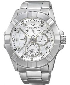 SEIKO LORD Chronograph Stainless Steel Bracelet  249€  http://www.oroloi.gr/product_info.php?products_id=31716