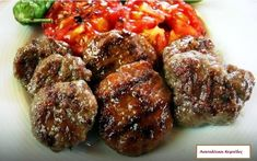 ανατολίτικοι κεφτεδες Albanian Cuisine, Albanian Recipes, Turkish Recipes, Italian Recipes, Ethnic Recipes, Albanian Food, Iftar, Turkish Meatballs, Meat Recipes