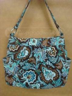 shopgoodwill.com: Java Blue Vera Bradley Purse / Bag
