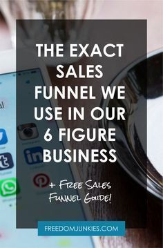 Jun 2017 - Want to bring in more leads, more sales and more customers? Looking to automate your business? You need to grab this guide! The exact Sales Funnels we used to build our multiple 6 figure business (with a return of on advertising spending). Business Marketing, Business Tips, Content Marketing, Online Business, Business Sales, Craft Business, Marketing Digital, Online Marketing, Software