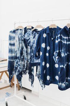 Park & Cube, Hand-dyed Shibori workshop at MiH Jeans HQ Bleu Indigo, Mood Indigo, Indigo Dye, Tye Dye, Shibori Tie Dye, Shibori Fabric, Estilo Hippy, Estilo Jeans, Diy Vetement