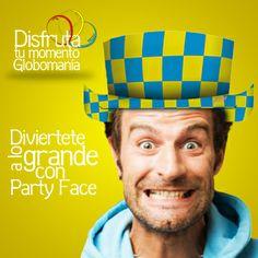 Pasatela divertido con nuestra línea de #ArtículosparaFiesta de #PartyFace.  #DisfrutaTuMomentoGlobomanía