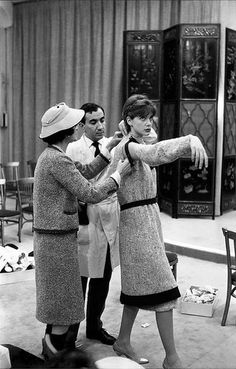 Chanel with model Marie-Hélène Arnaud, photo by Paule Rizzo 1959