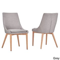 MID-CENTURY LIVING Sasha Oak Barrel Back Side Chair (Set of 2) | Overstock.com Shopping - The Best Deals on Dining Chairs