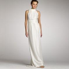 slub silk penelope gown  jcrew  11834
