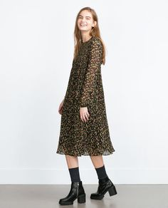 ZARA - WOMAN - MID-LENGTH PRINTED DRESS