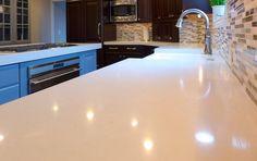 Frosty Carrina Caesarstone quartz kitchen countertops   Accent Interiors   Salt Lake City